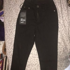 Brand new black high waist fashion nova Jeans